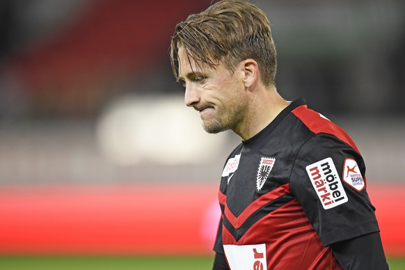 16.05.2015; Sion; Fussball Super League - FC Sion - FC Aarau;Enttaeuschung bei Daniel Gygax (Aarau)(Urs Lindt/freshfocus)