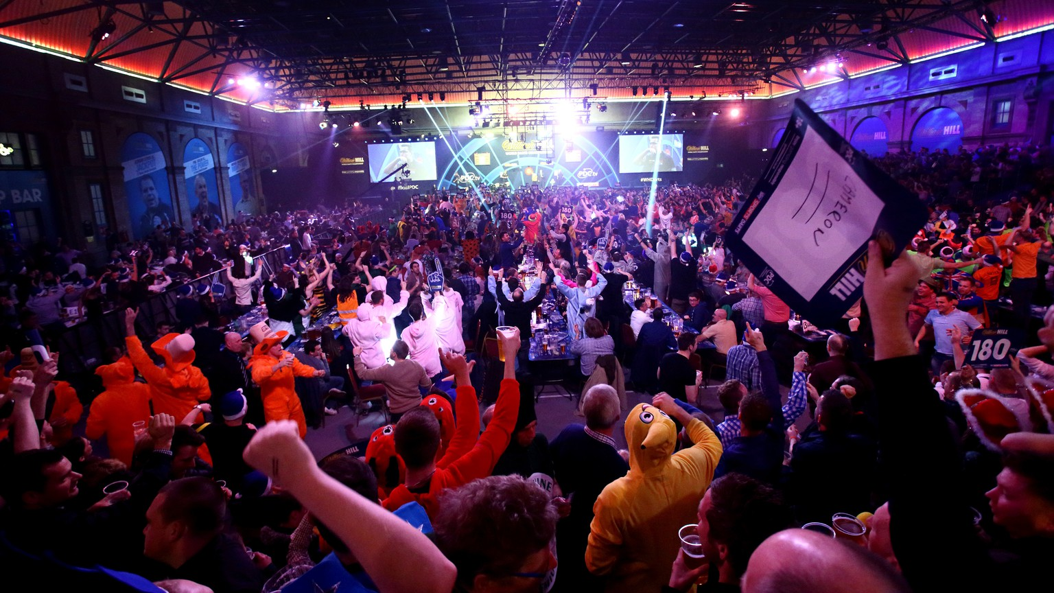 LONDON, ENGLAND - DECEMBER 21:  A detailed view of darts paraphernalia on day four of the 2015 William Hill PDC World Darts Championships  at Alexandra Palace on December 21, 2014 in London, England.  (Photo by Ben Hoskins/Getty Images)