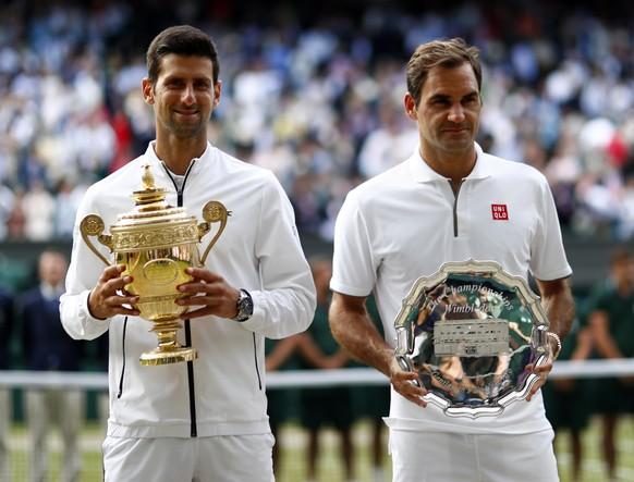 <strong>Wimbledon 2019:</strong> Djokovic – Federer 7:6, 1:6, 7:6, 4:6, 13:12.