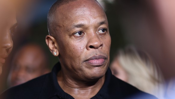 FILE - In this Aug. 10, 2015, file photo, Dr. Dre arrives at the Los Angeles premiere of