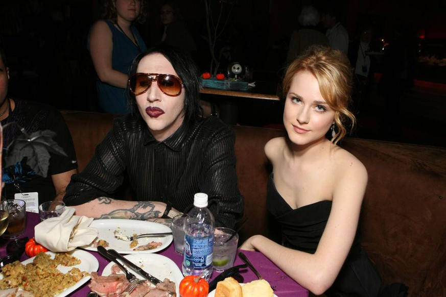 Marilyn Manson and Evan Rachel Wood (Photo by Eric Charbonneau/WireImage for Disney Pictures)