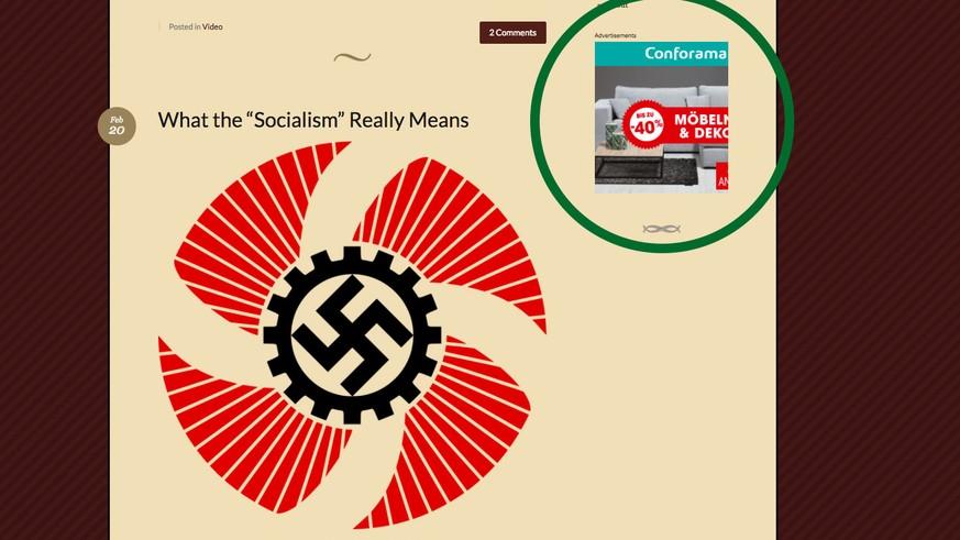 Sbb Und Conforama Werbung Taucht Auf Neonazi Website Auf Watson
