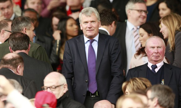 """Football - Manchester United v Arsenal - Barclays Premier League - Old Trafford - 17/5/15 Former Manchester United Chief Executive David Gill in the stands Action Images via Reuters / Jason Cairnduff Livepic EDITORIAL USE ONLY. No use with unauthorized audio, video, data, fixture lists, club/league logos or """"live"""" services. Online in-match use limited to 45 images, no video emulation. No use in betting, games or single club/league/player publications.  Please contact your account representative for further details."""