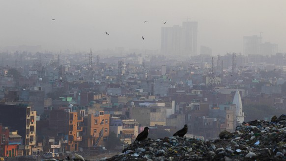 A blanket of dust and smoke covers the city landscape in in New Delhi, India, Friday, Oct. 17, 2014. India launched the Air Quality Index Friday to measure air quality across the nation that is home to some of the most polluted cities in the world. It will measure eight major pollutants that impact respiratory health in cities with populations exceeding 1 million in the next five years and then gradually the rest of the country, Environment Minister Prakash told reporters. The World Health Organization said earlier this year that the Indian capital had the worst air quality in the world, surpassing Beijing, a statement that New Delhi has vehemently disputed. (AP Photo/Altaf Qadri)