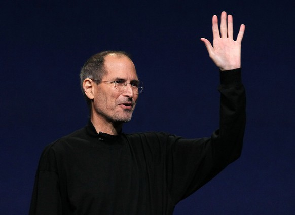 SAN FRANCISCO, CA - MARCH 02:  Apple CEO Steve Jobs waves to the crowd after speaking during an Apple Special event to unveil the new iPad 2 at the Yerba Buena Center for the Arts on March 2, 2011 in San Francisco, California. Apple unveiled the iPad 2 as the successor to its popular tablet, the iPad.  (Photo by Justin Sullivan/Getty Images)