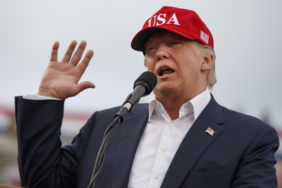 FILE - In this Saturday, Dec. 17, 2016 file photo, U.S. President-elect Donald Trump speaks during a rally at Ladd-Peebles Stadium in Mobile, Ala. China said Saturday its military seized a U.S. Navy unmanned underwater glider in the South China Sea but it would give the drone back. But Trump tweeted later that the Chinese government should be told
