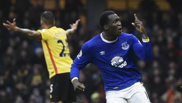 Football Soccer Britain - Watford v Everton - Premier League - Vicarage Road - 10/12/16 Everton's Romelu Lukaku celebrates scoring their second goal  Action Images via Reuters / Alan Walter Livepic EDITORIAL USE ONLY. No use with unauthorized audio, video, data, fixture lists, club/league logos or