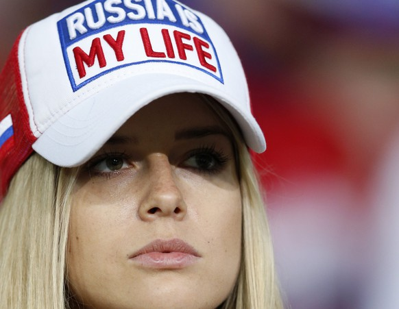 epa05366620 Russia supporter before the UEFA EURO 2016 group B preliminary round match between Russia and Slovakia at Stade Pierre Mauroy in Lille, France, 15 June 2016.  (RESTRICTIONS APPLY: For editorial news reporting purposes only. Not used for commercial or marketing purposes without prior written approval of UEFA. Images must appear as still images and must not emulate match action video footage. Photographs published in online publications (whether via the Internet or otherwise) shall have an interval of at least 20 seconds between the posting.)  EPA/LAURENT DUBRULE   EDITORIAL USE ONLY