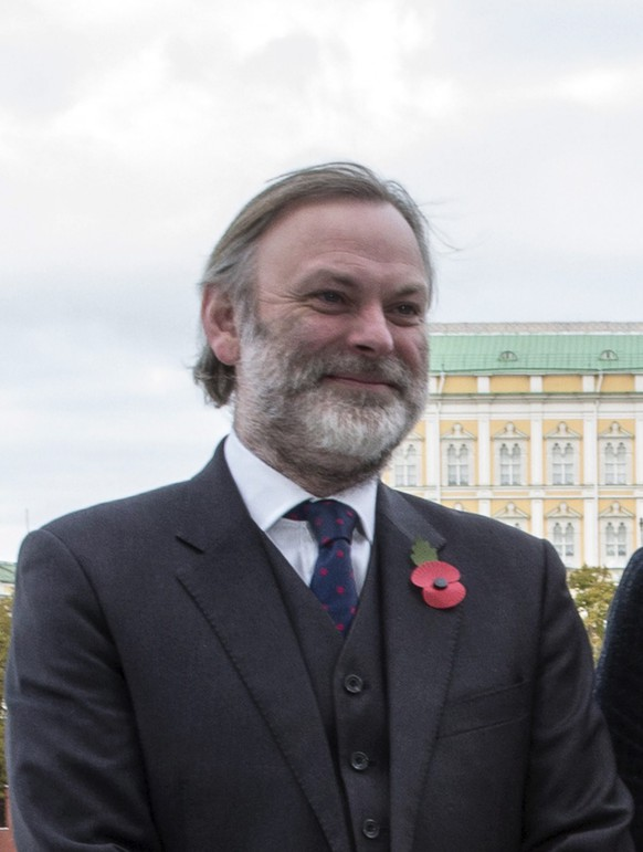 epa05698241 (FILE) - A file picture dated 30 October 2015 shows British Ambassador to Russia Tim Barrow pose for photographers during a photocall for the James Bond film 'Spectre' at the British Embassy building in Moscow, Russia. According to reports from 04 January 2017, Tim Barrow is to replace Ivan Rogers as Britain's Ambassador to the European Union (EU).  EPA/SERGEI ILNITSKY