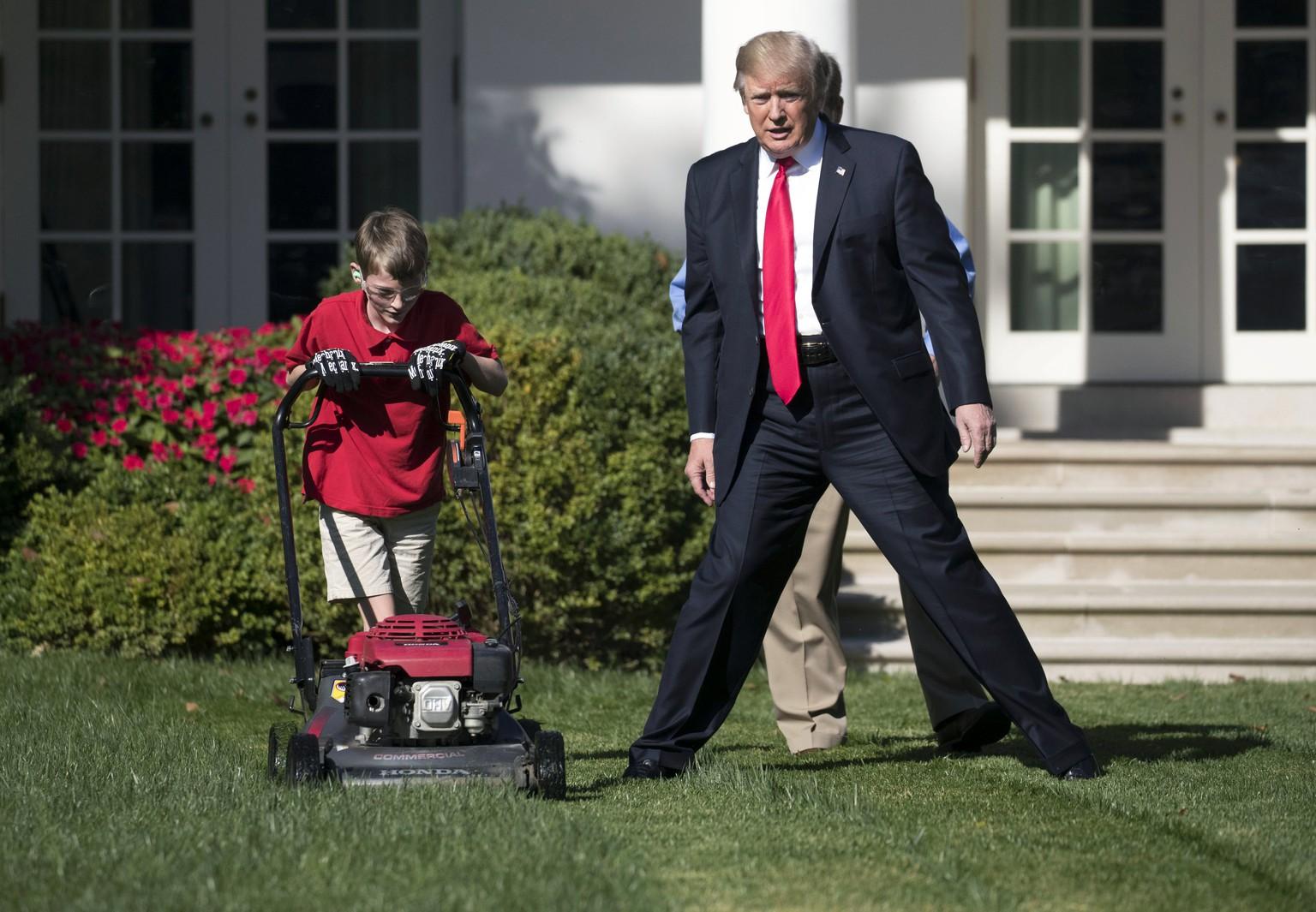 Donald Trump engagierte Elfjährigen als Gärtner