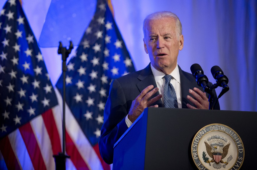 Vice President Joe Biden speaks at the 2016 Health Datapalooza's annual national conference in Washington, Monday, May 9, 2016, featuring the newest and most innovative and effective uses of health data by companies, startups, academics, government agencies and individuals. (AP Photo/Manuel Balce Ceneta)