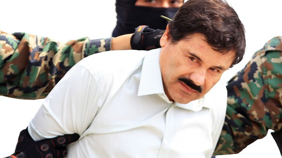 epa07365149 (FILE) - Mexican drug lord Joaquin 'El Chapo' Guzman, after being recaptured in 2014 and presented by the authorities in Mexico City, Mexico, 21 Janaury 2017. Media reports that Joaquin 'El Chapo' Guzman has been found guilty on all 10 counts at his drug trafficking trial at a federal court in New York, New Yory USA on 12 Februray 2019.  EPA/MARIO GUZMAN *** Local Caption *** 53259195