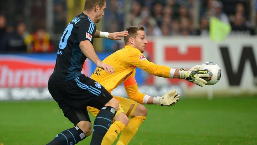 Freiburg-Goalie Baumann unterlaufen gegen den HSV drei Patzer der allerschlimmsten Sorte