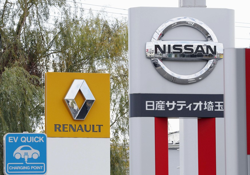 Nissan Motor Co. and Renault at car dealerships in Kawaguchi north of Tokyo. Japanese automaker Nissan wasn't consulted about a proposed merger between its French alliance partner Renault and Fiat Chrysler