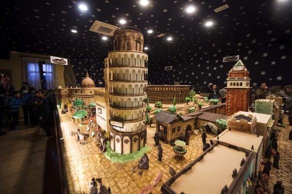 spanier bauen riesige weihnachtskrippe aus schokolade watson. Black Bedroom Furniture Sets. Home Design Ideas