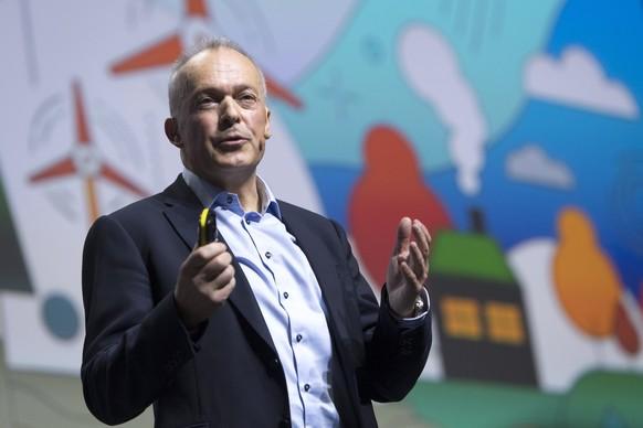 Urs Schaeppi, CEO Direction du groupe Swisscom parle lors de la 15eme edition du