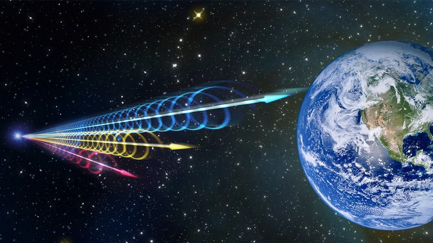 Illustration Fast Radio Bursts (FRB)