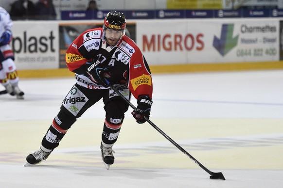 12.09.2014; Freiburg; Eishockey NLA - HC Fribourg-Gotteron - ZSC Lions; Tristan Vauclair (Gotteron)(Urs Lindt/freshfocus)