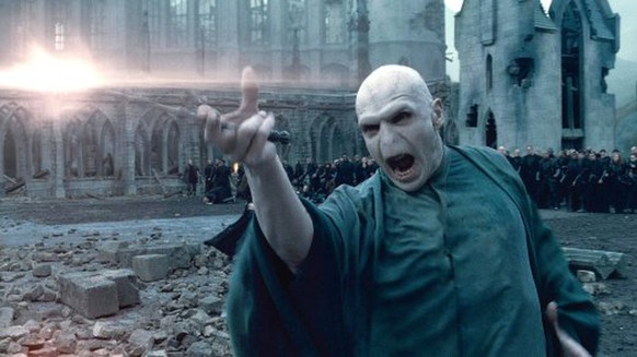 """In this film publicity image released by Warner Bros. Pictures, Ralph Fiennes portrays Lord Voldemort in a scene from """"Harry Potter and the Deathly Hallows: Part 2."""" (AP Photo/Warner Bros. Pictures)"""