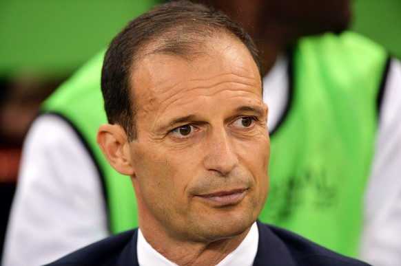 epa06008543 Juventus coach Massimiliano Allegri pictured before the UEFA Champions League final between Juventus FC and Real Madrid at the National Stadium of Wales in Cardiff, Britain, 03 June 2017.  EPA/PETER POWELL