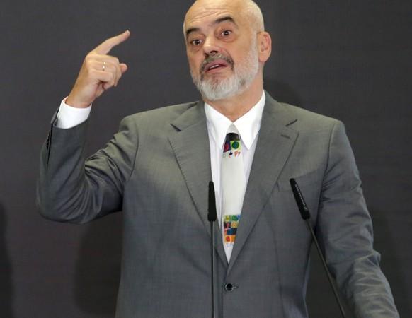 Edi Rama: Zum dritten Mal in Folge zum Ministerpräsidenten Albaniens gewählt.