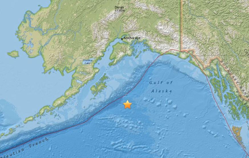 Tsunami-Warnung im Nord-Pazifik Starkes Erdbeben vor der Küste Alaskas
