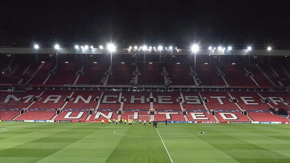 BSC Young Boys during a training session the day before the UEFA Champions League Group H matchday 5 soccer match between England's Manchester United FC and Switzerland's BSC Young Boys in the Old Trafford stadium in Manchester, England, on Monday, November 26, 2018. (KEYSTONE/Georgios Kefalas)