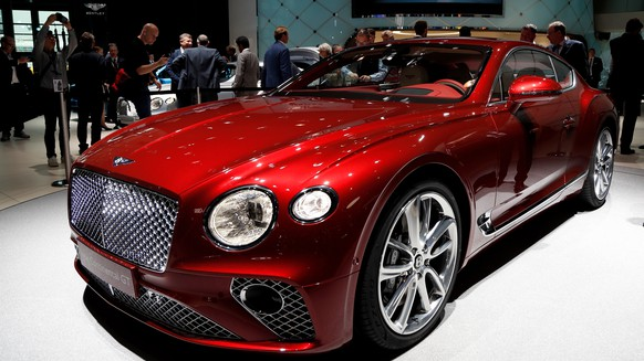 epa06201934 Bentley present the new model Continantel GT at the IAA Car Show in Frankfurt Main, Germany, 13 September 2017. The International Motor Show IAA is the world's largest motor show and automobile exhibition. Exhibitors from up to 40 countries are to present their latest products and innovations at the IAA, while hundreds of thousands of people are expected to visit the show from 14 to 24 September.  EPA/FRIEDEMANN VOGEL