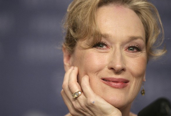 U.S. actress Meryl Streep addresses a news conference for her movie 'A Prairie Home Companion' at the 56th Film Festival Berlinale in Berlin, Germany, Sunday, Feb. 12, 2006. The festival is held until Feb. 19, 2006 in the German capital. (AP Photo/Markus Schreiber)
