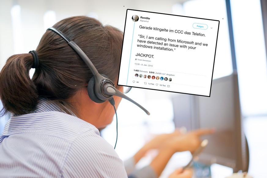 Microsoft Anrufe Hacker