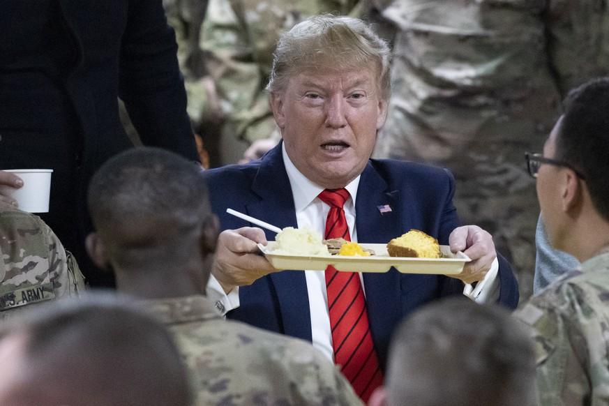Donald Trump stattet US-Truppen in Afghanistan Überraschungsbesuch ab