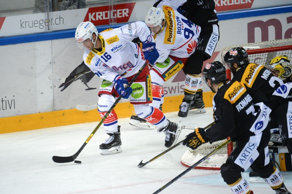 Kloten's player Daniele Grassi during the National League game of the Swiss Championship 2017/18 between HC Lugano and EHC Kloten at the stadium Resega in Lugano, Switzerland, Tuesday, September 12, 2017. (KEYSTONE/Ti-Press/Davide Agosta)