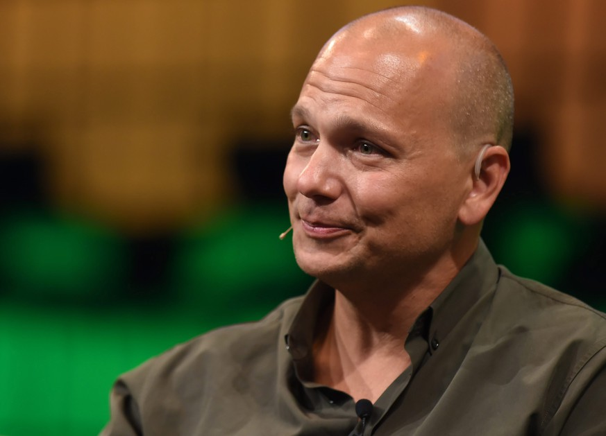 DUBLIN, IRELAND - NOVEMBER 05: In this handout image supplied by Sportsfile, Tony Fadell, Founder of Nest, speaks on the centre stage during Day 2 of the 2014 Web Summit at the RDS on November 5, 2014 in Dublin, Ireland.  (Photo by Stephen McCarthy / SPORTSFILE via Getty Images)