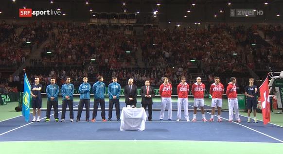 Einmarsch Davis Cup
