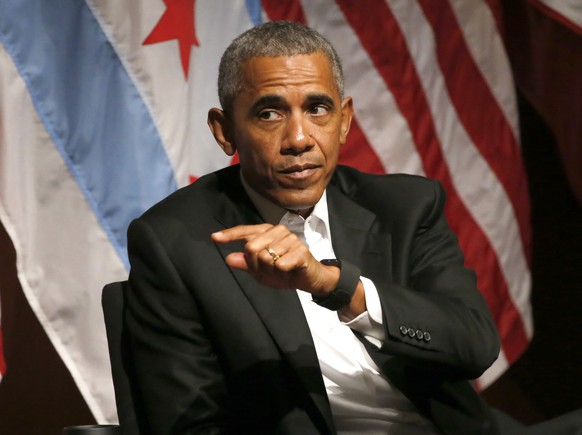 FILE - In this April 24, 2017, file photo, former President Barack Obama speaks at the University of Chicago in Chicago. Obama says President Donald Trump's decision to roll back 'dreamers' program is 'cruel' and 'self-defeating.' (AP Photo/Charles Rex Arbogast, File)