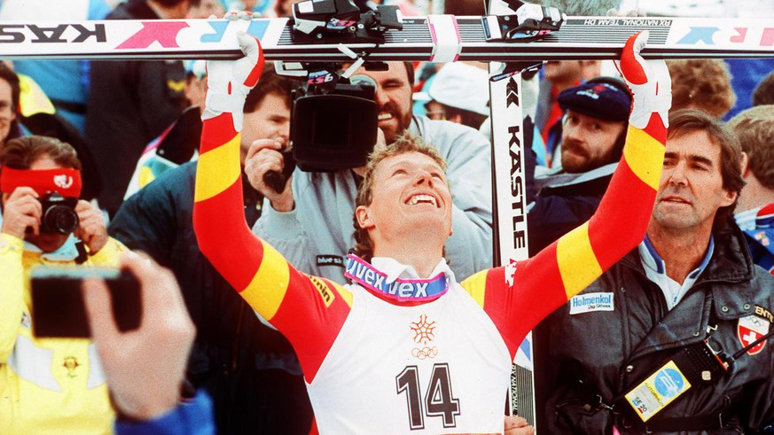 Pirmin Zurbriggen krönt seine Karriere mit dem Olympiasieg in der Abfahrt von Calgary 1988