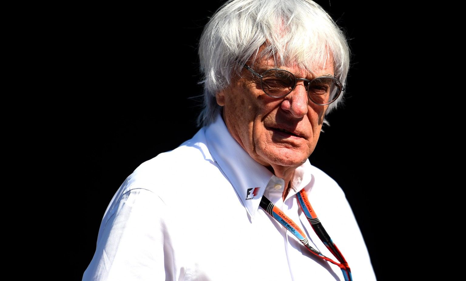 SPA, BELGIUM - AUGUST 22:  F1 supremo Bernie Ecclestone looks on in the paddock during qualifying for the Formula One Grand Prix of Belgium at Circuit de Spa-Francorchamps on August 22, 2015 in Spa, Belgium.  (Photo by Lars Baron/Getty Images)