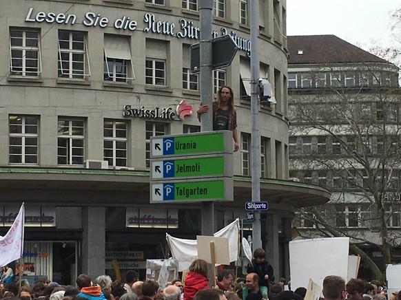 Klimademo in Zürich