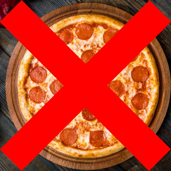 no meat pizza