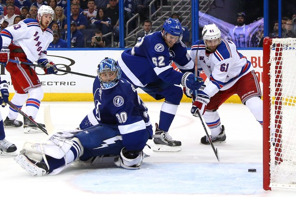 TAMPA, FL - MAY 22:  Rick Nash #61 of the New York Rangers scores a goal against Ben Bishop #30 of the Tampa Bay Lightning during the third period in Game Four of the Eastern Conference Finals during the 2015 NHL Stanley Cup Playoffs at Amalie Arena on May 22, 2015 in Tampa, Florida.  (Photo by Bruce Bennett/Getty Images)
