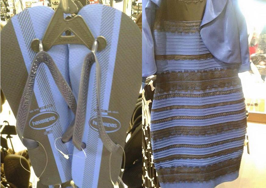 Kleid weib gold blau schwarz bild