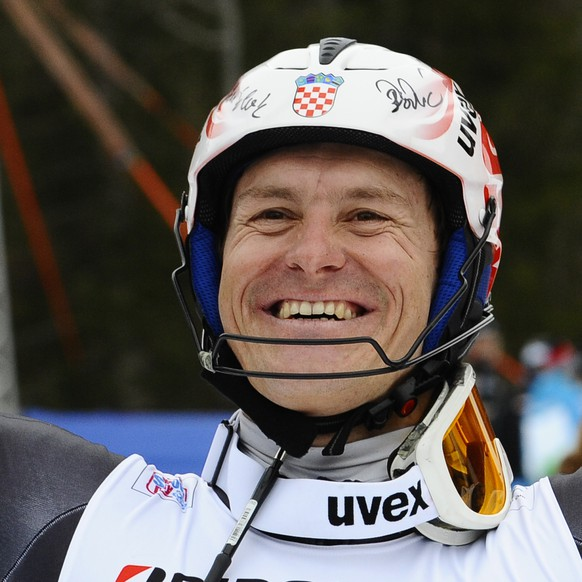 WENGEN, SWITZERLAND - JANUARY 16: (FRANCE OUT) Ivica Kostelic of Croatia takes 3rd place during the Audi FIS Alpine Ski World Cup Men's Super Combined on January 16, 2015 in Wengen, Switzerland. (Photo by Alain Grosclaude/Agence Zoom/Getty Images)