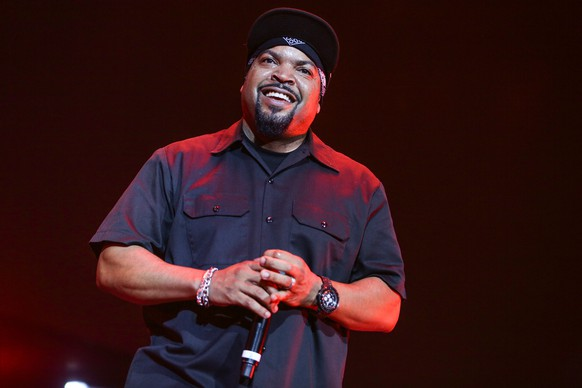 Ice Cube performs during the 2015 BET Experience at the Staples Center on Saturday, June 27, 2015, in Los Angeles. (Photo by Rich Fury/Invision/AP)