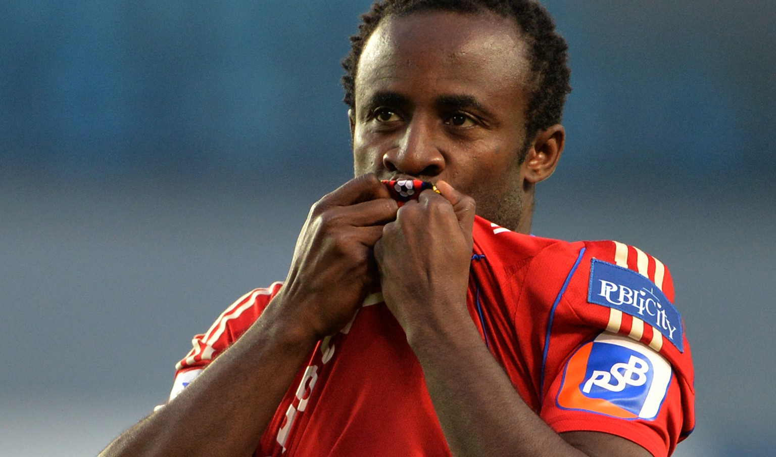KHIMKI, RUSSIA - JULY 22: Seydou Doumbia of PFC CSKA Moscow celebrates after scoring a goal during the Russian Premier League match between PFC CSKA Moscow and FC Krylia Sovetov Samara at the Arena Khimki Stadium on July 22, 2013 in Khimki, Russia.  (Photo by Epsilon/Getty Images)