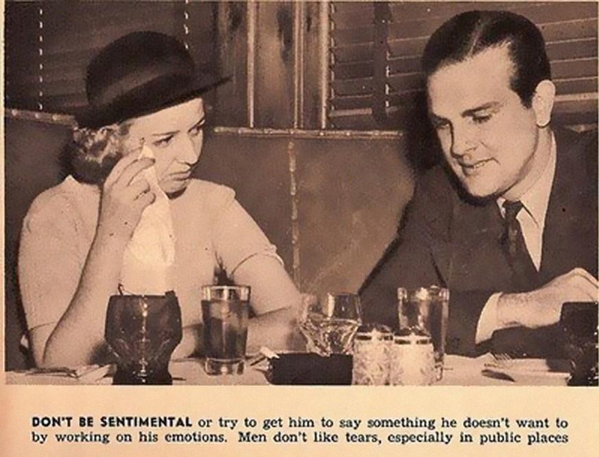 13 lustige und sexistische Dating-Tipps aus dem Jahr 1938