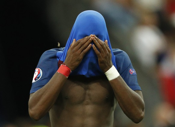 Football Soccer - Portugal v France - EURO 2016 - Final - Stade de France, Saint-Denis near Paris, France - 10/7/16 France's Paul Pogba reacts after the game REUTERS/John Sibley Livepic