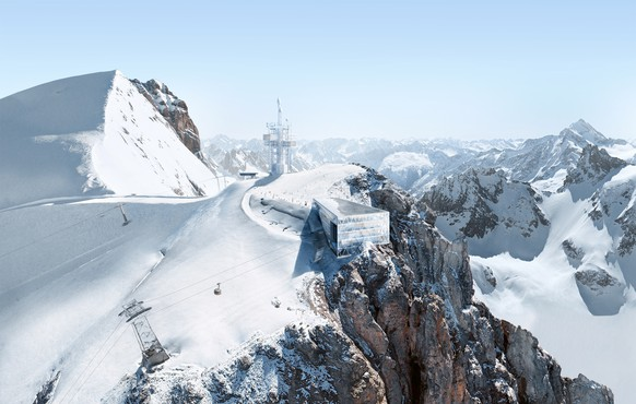 Titlis Antenne und Bergstation