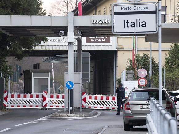 Der Grenzübergang von Brusino ist ab Montag wieder teilweise offen.