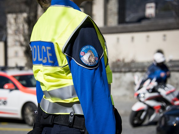 Die Kantonspolizei Wallis setzt
