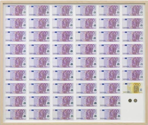 """Etwa das hätte den Erwartungen des Museum entsprochen: Jens Haaning (2007): An Average Austrian Year Income. In einer a target=""""_blank"""" rel=""""nofollow"""" href=""""https://www.secession.at/exhibition/jens-haaning/#""""Ausstellung der Wiener Secession/a, Foto: Jens Ziehe."""